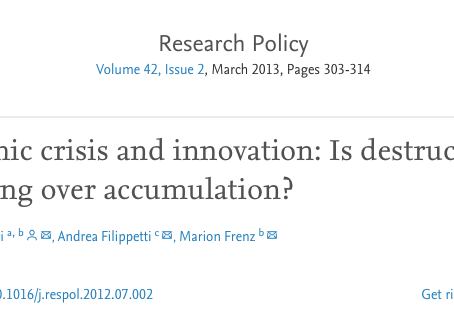 What kind of innovators performed best during the 2008 economic crisis?