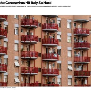 Why the Coronavirus hits Italy so hard