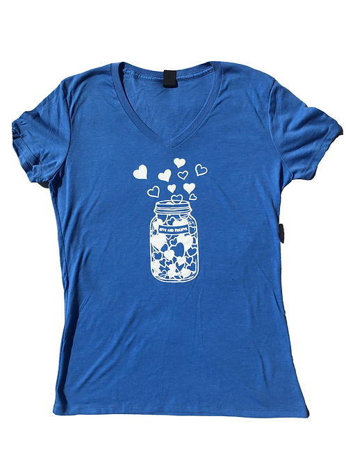 Jar of Hearts (Greek Blue V-Neck)