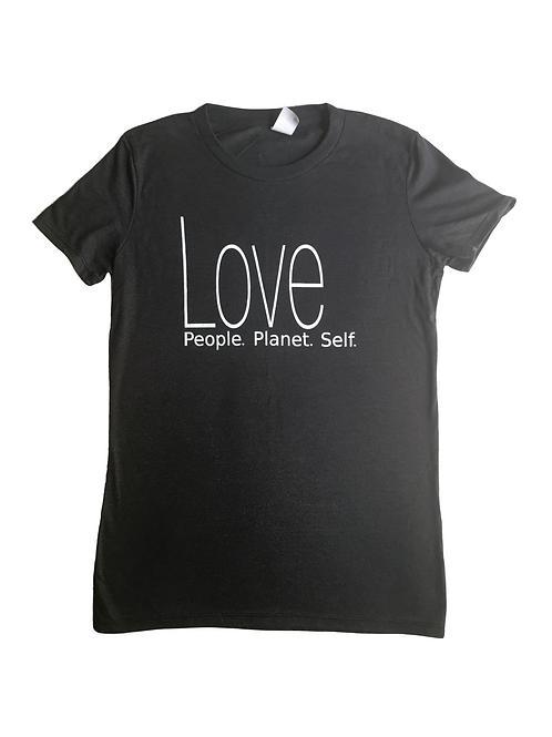 Love all (Vintage Black Crew Neck)