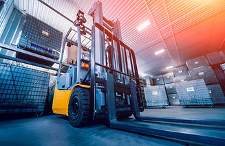 Forklift loader. Pallet stacker truck eq