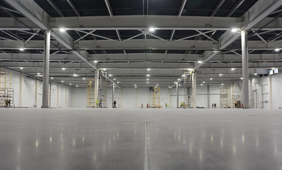 Large modern empty storehouse. Warehous