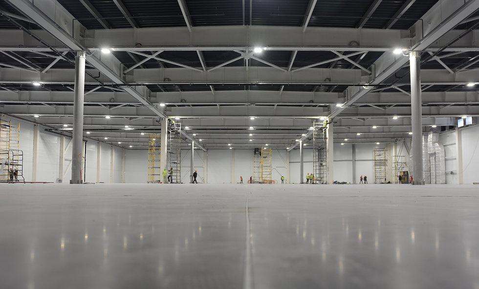 Large modern empty storehouse. Warehous