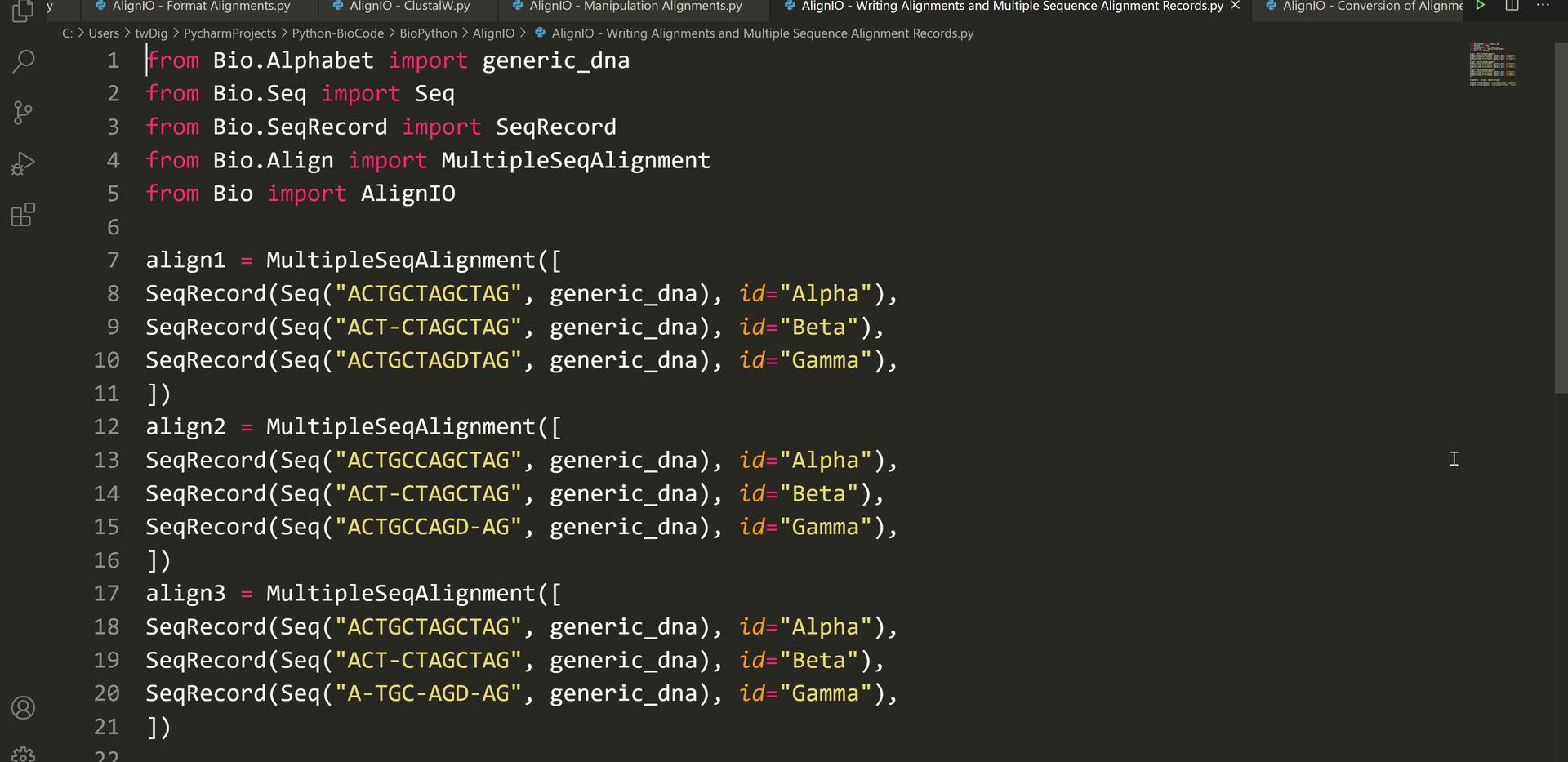 Python Scripting (3)-Sequence Analysis (