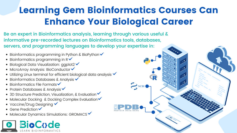 Learning Gem Bioinformatics Courses Can