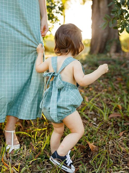 Jardineira Gaia - baby (oliva)