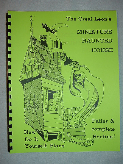 THE GREAT LEON MINIATURE HAUNTED HOUSE Book and Plans