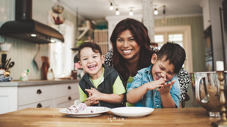 family portrait, adoptive family