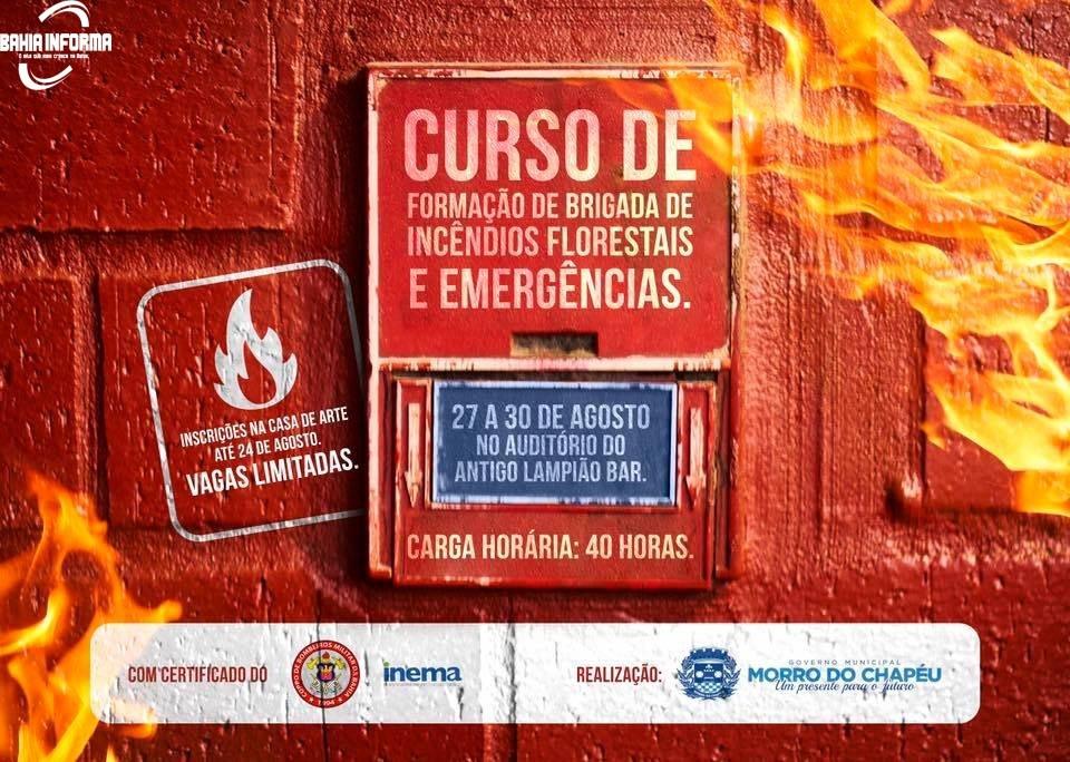 Vem ai o Curso de Formação de Brigada de Incêndios Florestais e Emergências.