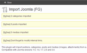 Successfully imported content form Joomla to WordPress