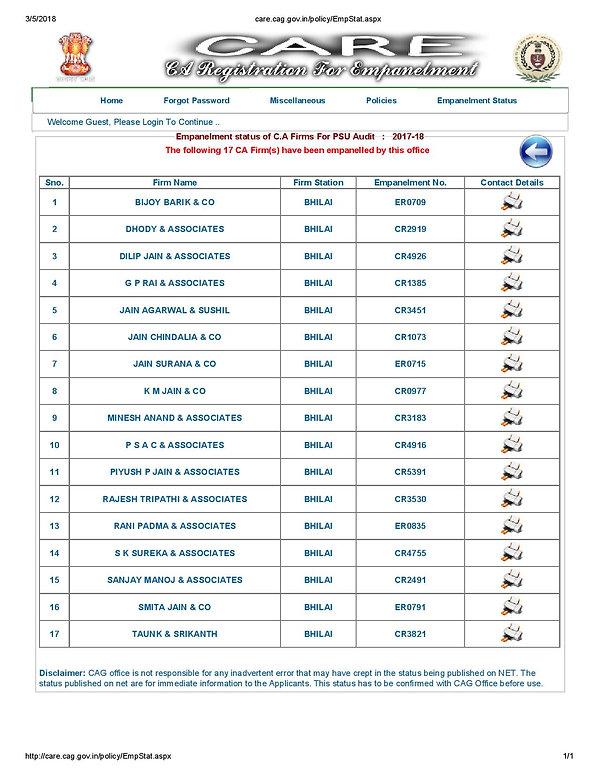CAG Registered Firm at Bhilai, Chhattisg