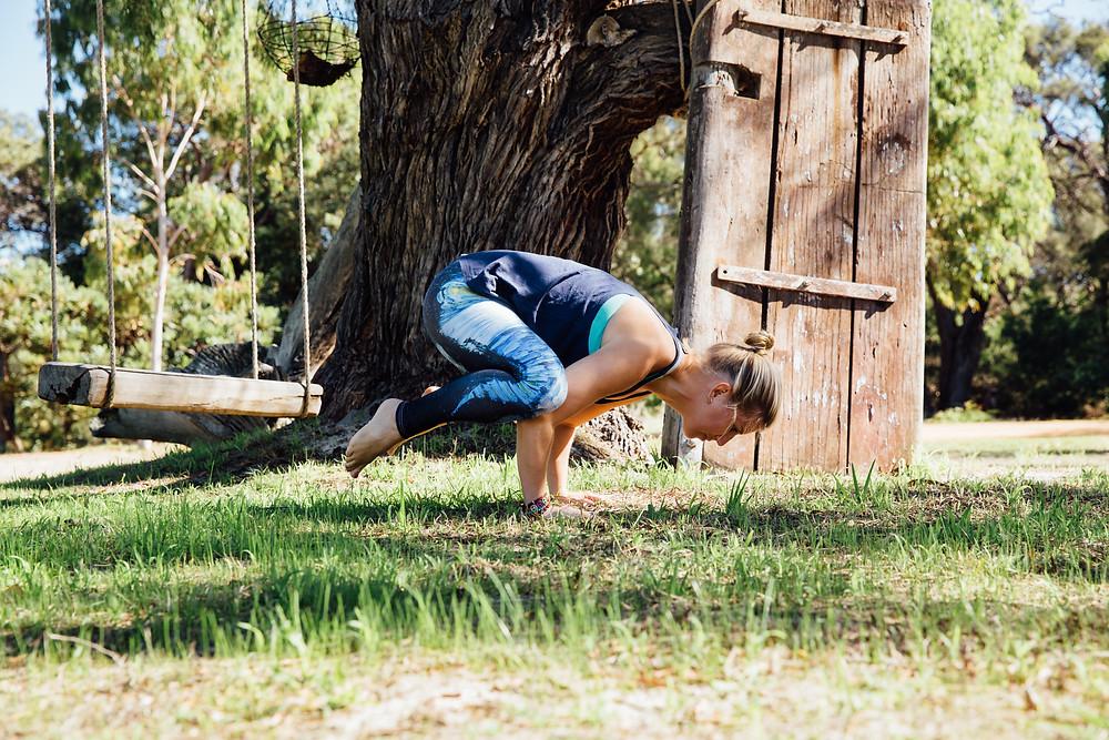 crow pose yoga