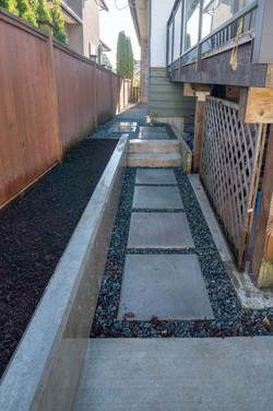 Side Walkway and Garden