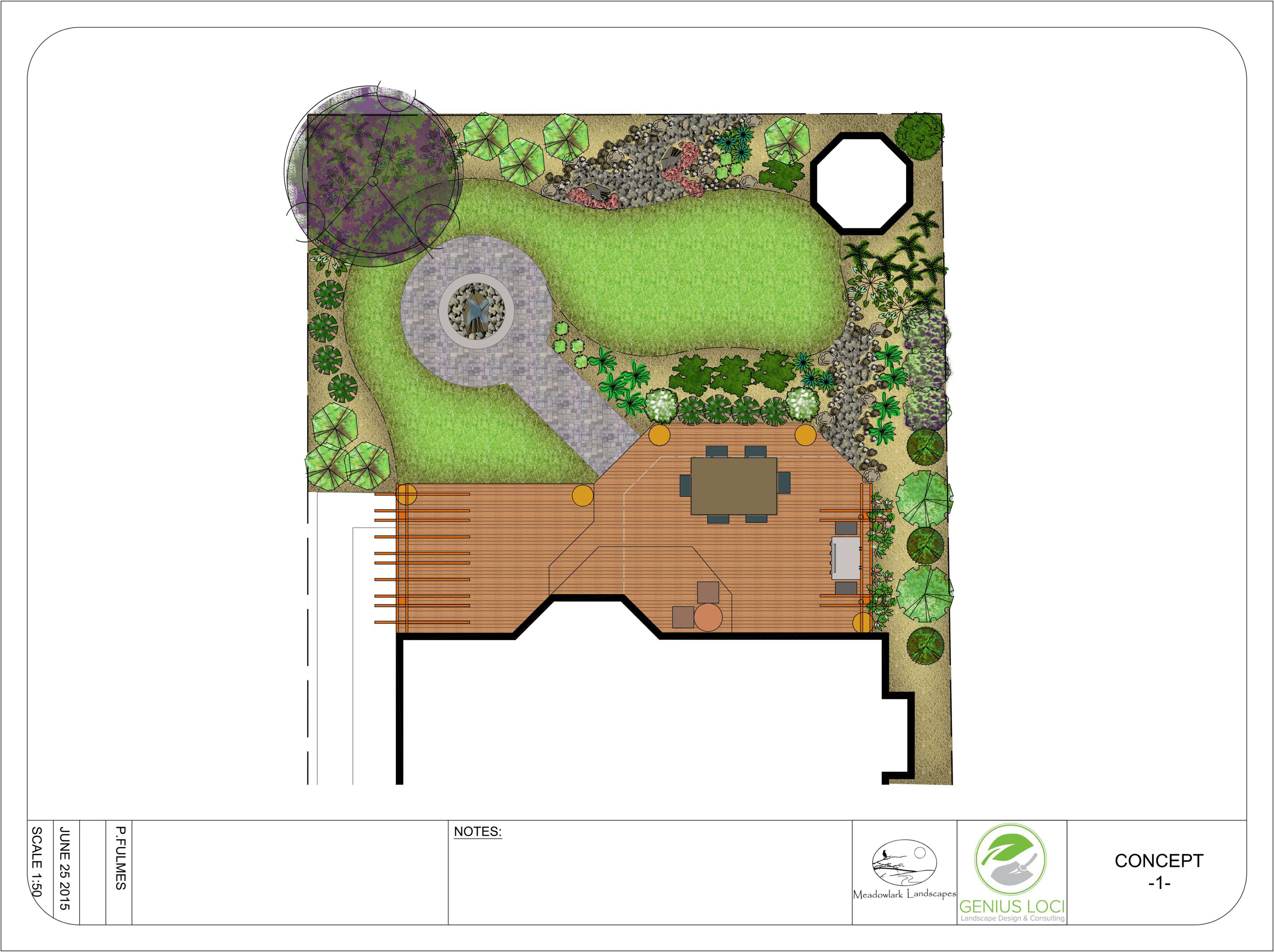Sample Design - Deck and Plants