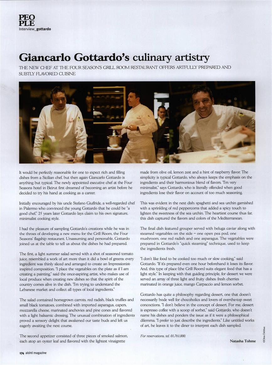 Sicilian Promotion in Carluccios Restaurant ,Istanbul 2017