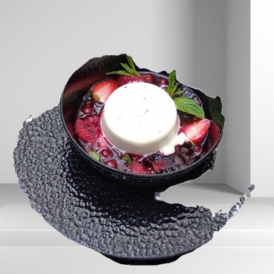 Berry Compote Panna Cotta
