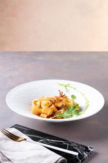 Calamarata with Bisque Seafood