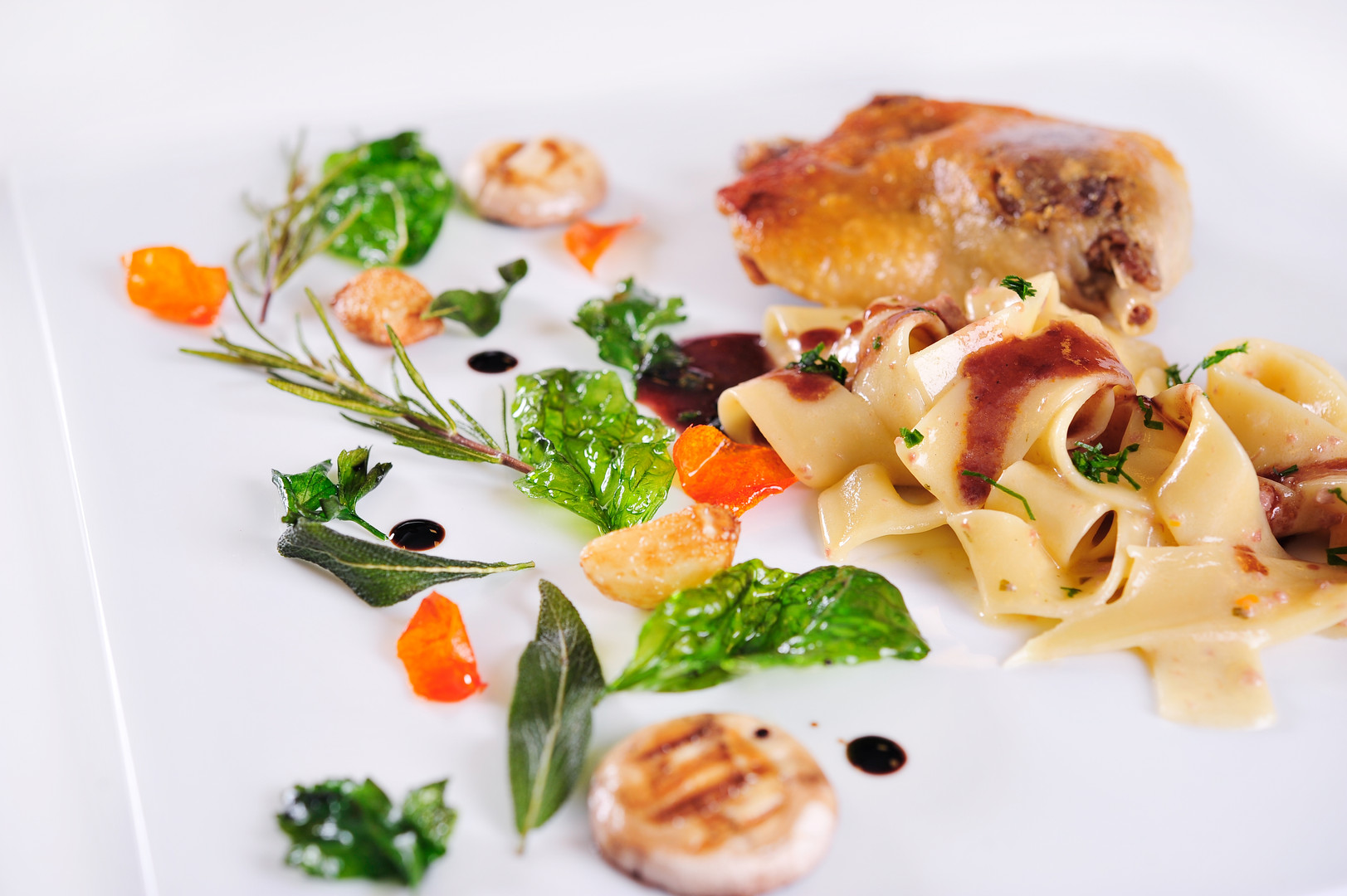 Pappardelle and Duck