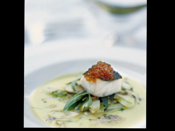 Cod with Clams broth