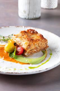 La Lasagna , Pesto &Tomato coulis