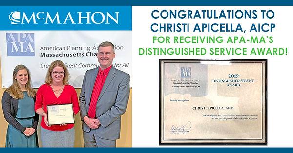 Christi Apicella -  2019APA-MA Award