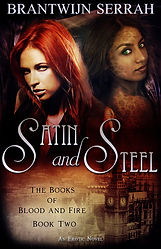 Book Cover, satin and steel, books of blood and fire, interracial, romance, erotica, paranormal