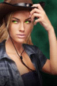 Serenity Walker, cowgirl, weird west, witch, hexslinger, blonde, green eyes, magic user
