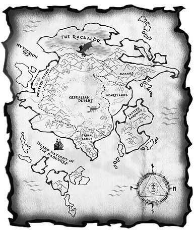 map, the pact, geiral, fantasy world, brantwijn serrah, front matter, continent, hand-drawn, world