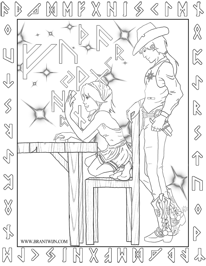 The First and Most Oft Repeated Lesson - Coloring Sheet Magic Bkgnd