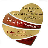 Best F/F Romance, reader's award, Bleeding Heart Blog, Romance, Gay, Lesbian