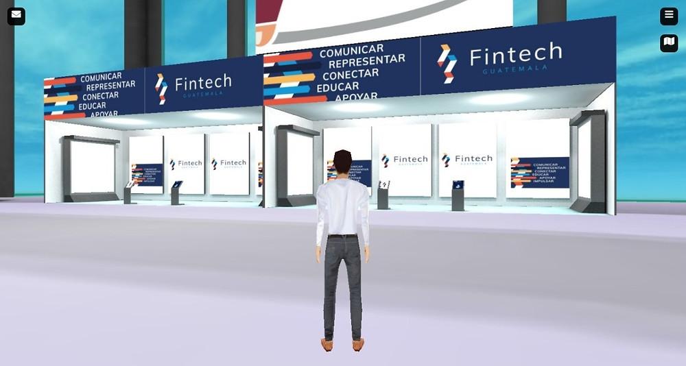 Stand de Asociación Fintech en la Expo 3D de Fintech Summit Latam 2020