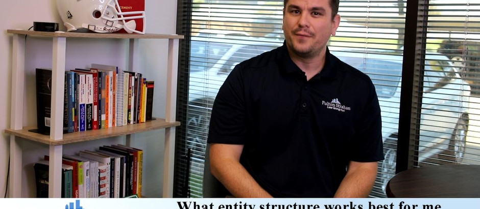 LAW HOUR | What entity structure works best for me or my business?