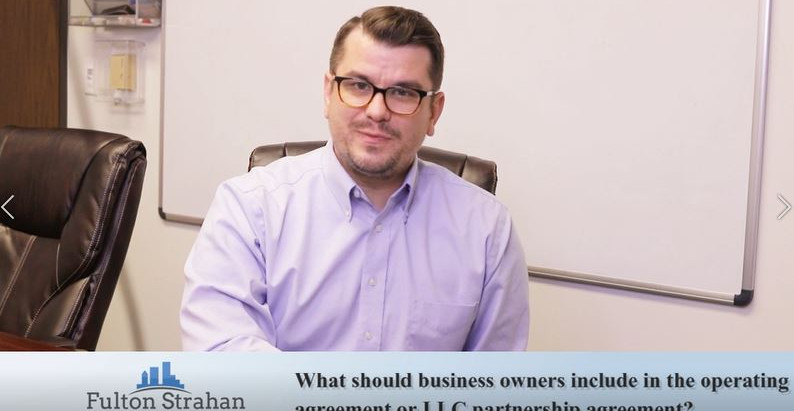 LAW HOUR | What Should Business Owners Include In The Operating Or LCC Partnership Agreement?
