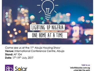 Blackbit Energy Show Case Total Solar Home System at 11th Abuja Housing Show