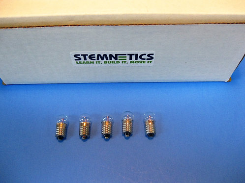 5 Pack - Standard Flashlight Replacement Bulbs