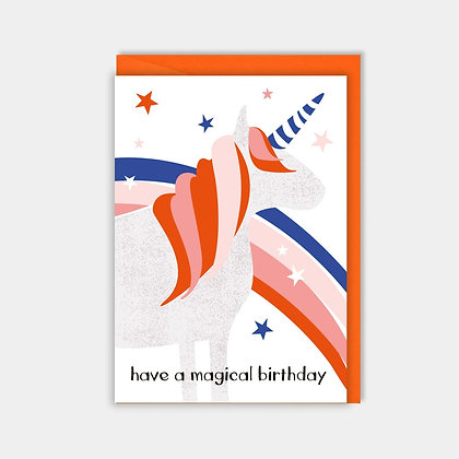 Have a Magical Birthday - Unicorn Card