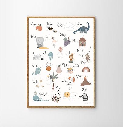 Character Alphabet Print