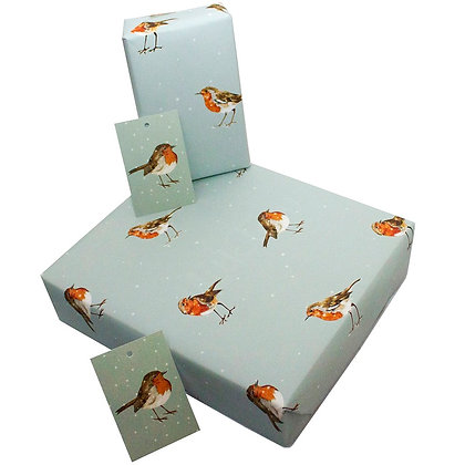 Winter Robins - Wrapping Paper