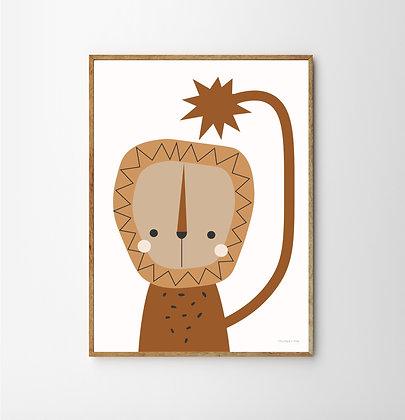 Bushy Lion Print