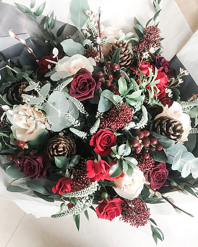Signature Loubee Blooms Christmas Bouquet