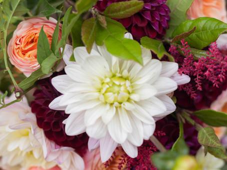 Wedding flowers in Autumn