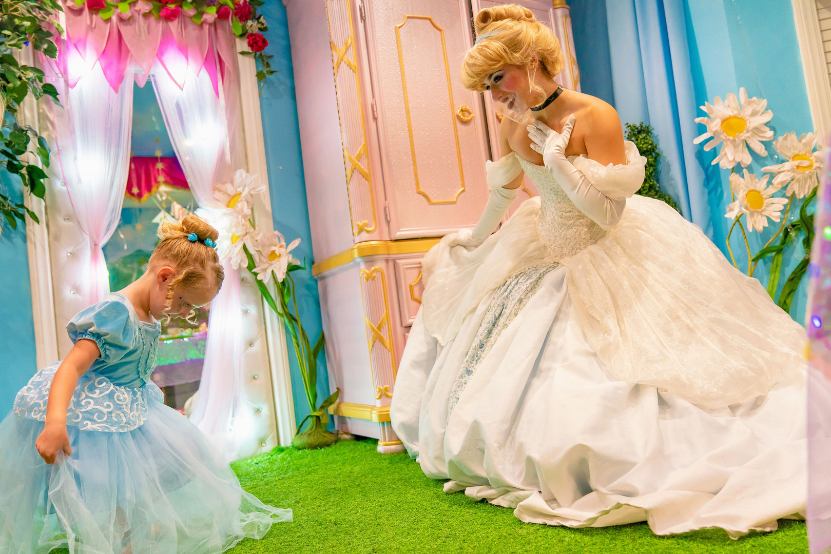 Princess makeover and tea party