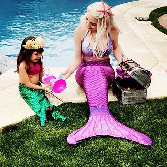 Our first swimming Neverland Mermaid par