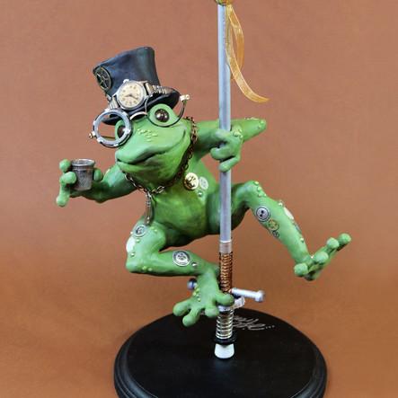 Tipsy Frog on a Pogo Stick