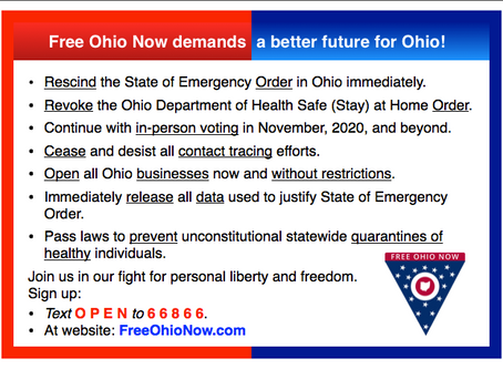 Free Ohio Now announces demands
