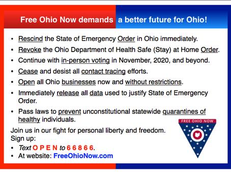 Free Ohio Now announces demands