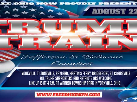Jump on the Trump Train tomorrow, 4 p.m. in Yorkville, Ohio