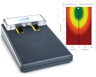 neuroPULSE Machine and Heart Rate Variability Chart