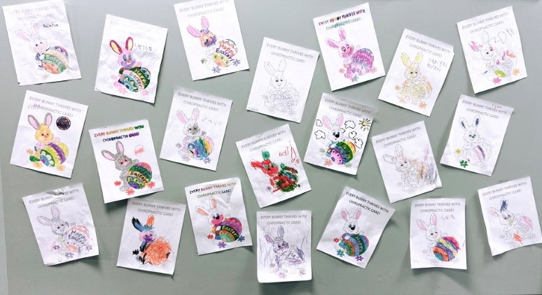 Easter colouring contest entries