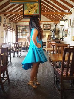 narinder blue flare dress